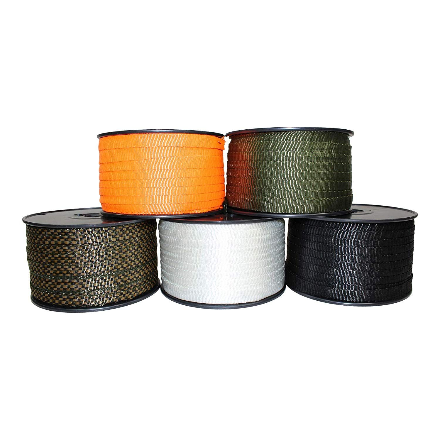 Sgt Knots Polyester Webbing 5 8 Inch Flat Rope Durable Polyester Pull Tape Strap Moisture Uv Rot Oil Amp Gas Resistant How To Make Rope Rope Durable