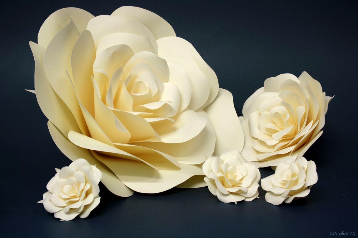 Creation De Fleurs Geantes En Papier Roses Pour La Decoration Du