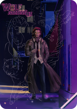 The Wolf Among Us By Darrachese The Wolf Among Us Wolf Game Concept Art