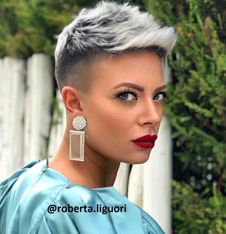 Silberblond Bei Kurzen Haaren Kurzhaar Frisuren Frisuren Stil Haar Kurze Und Lange Frisuren Silber Blond Haarfarbe Silberblond Gewagte Trendige Haarschnitte