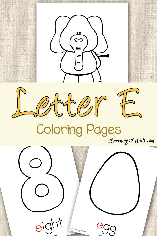 Preschool Letter Activities: Letter E Coloring Pages