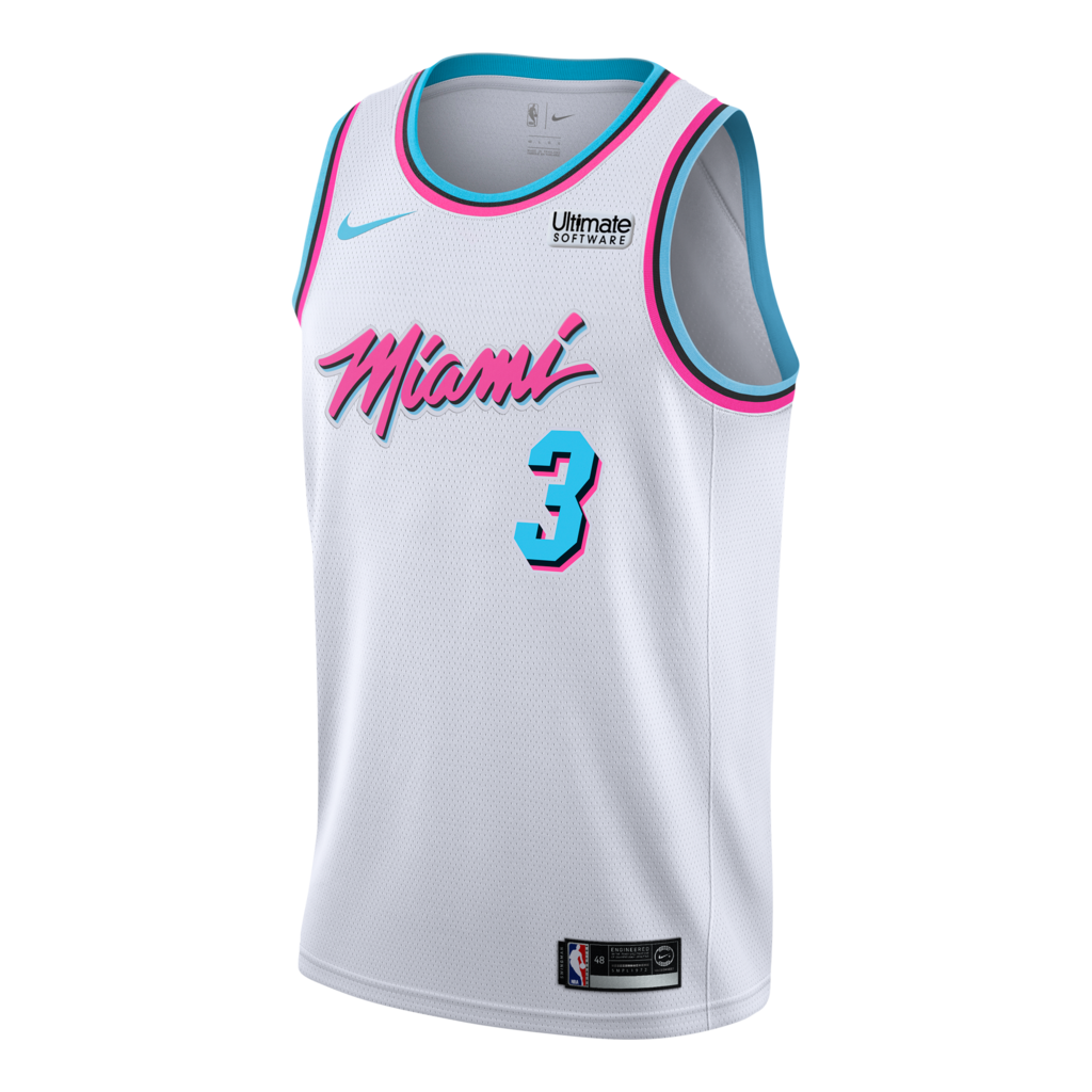 first rate 5890f 7f970 Dwyane Wade Nike Miami HEAT Vice Uniform City Edition ...