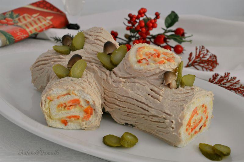 Buffet Natalizio Salato : Tronchetto di natale salato cibo antipasto appetizers e christmas
