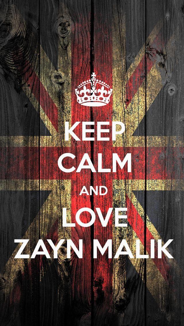 IPhone 5 Keep Calm And Love Zayn Malik Wallpaper