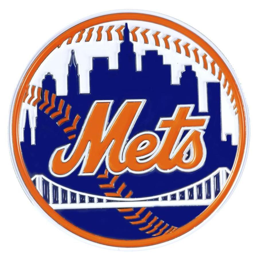 Fanmats New York Mets Mlb Color Emblem Metal Emblem Lowes Com New York Mets Logo Mets Baseball Ny Mets Baseball