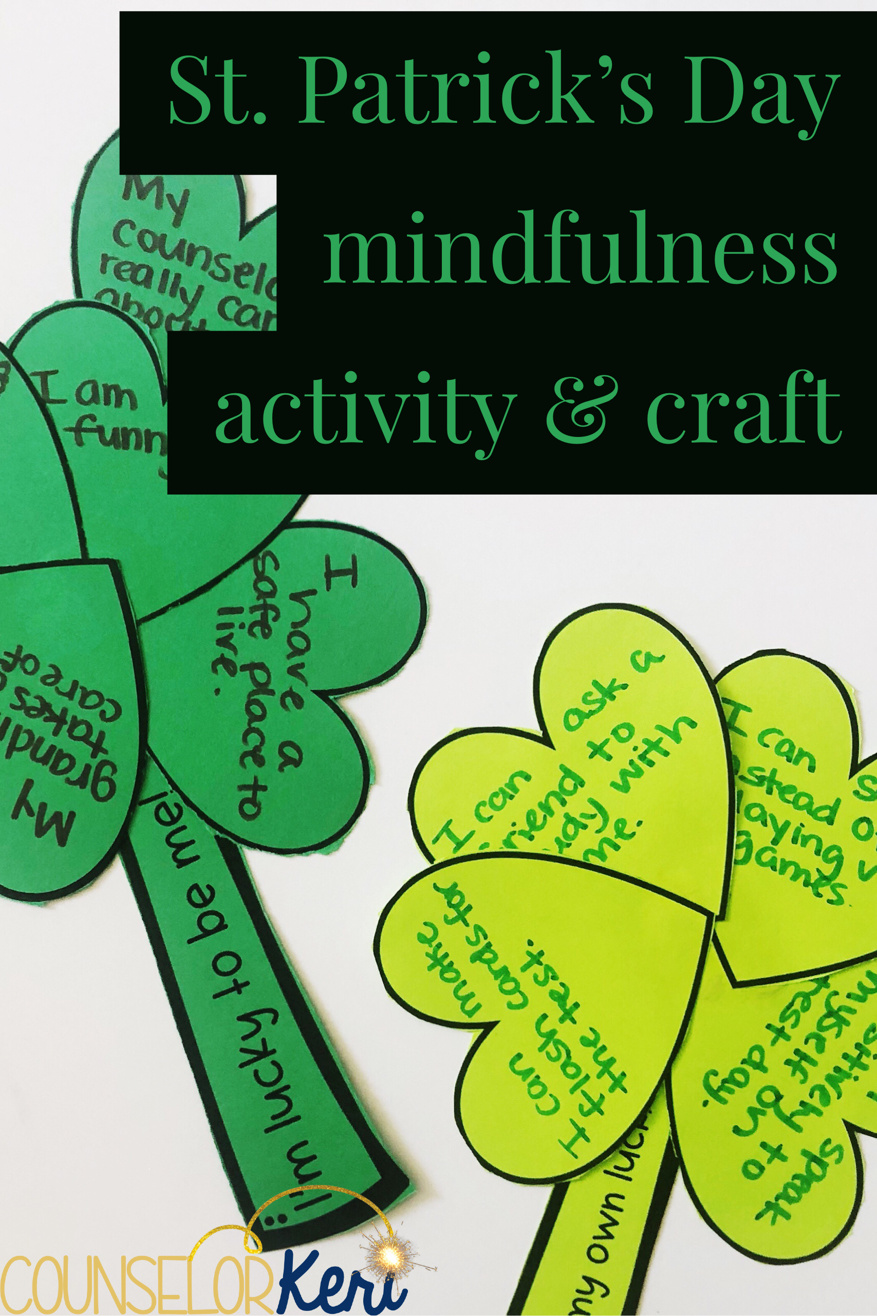 660c293ec St. Patrick's Day mindfulness activity: 2 scripts to explore luck, why were  lucky, and how to create our own luck. These activities are perfect for ...