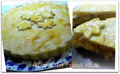 Receitas do Caldeirão da Bruxa Solar: Massa econômica para tortas (com recheio de palmito e alho poró)