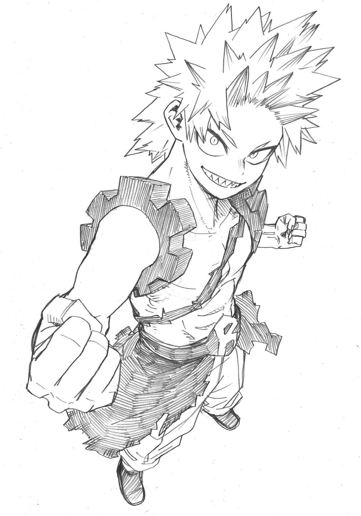 Horikoshi Sketch Kirishima Eijirou Bnha Kirishima My Hero Academia Kirishima Eijirou Hero