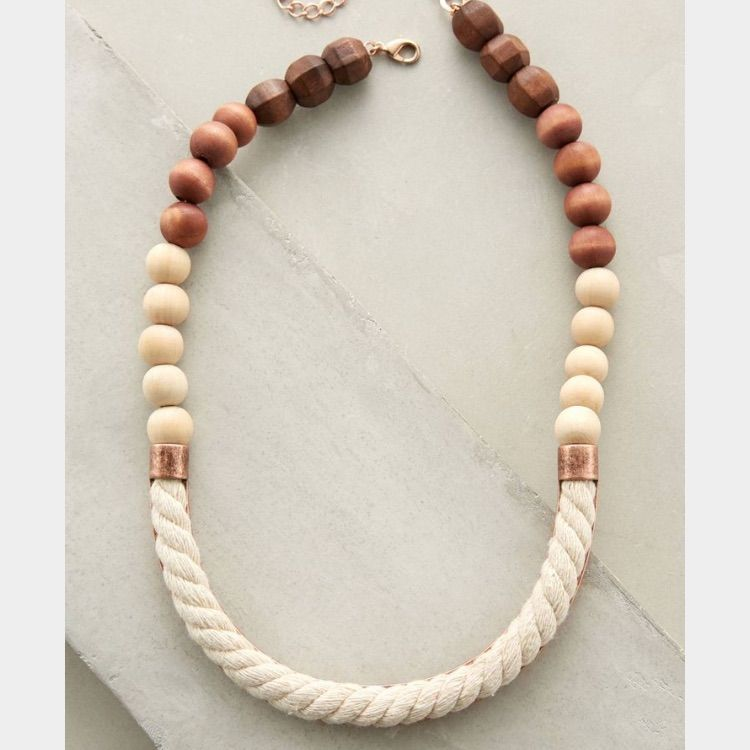 Anthropologie Rosewood Necklace