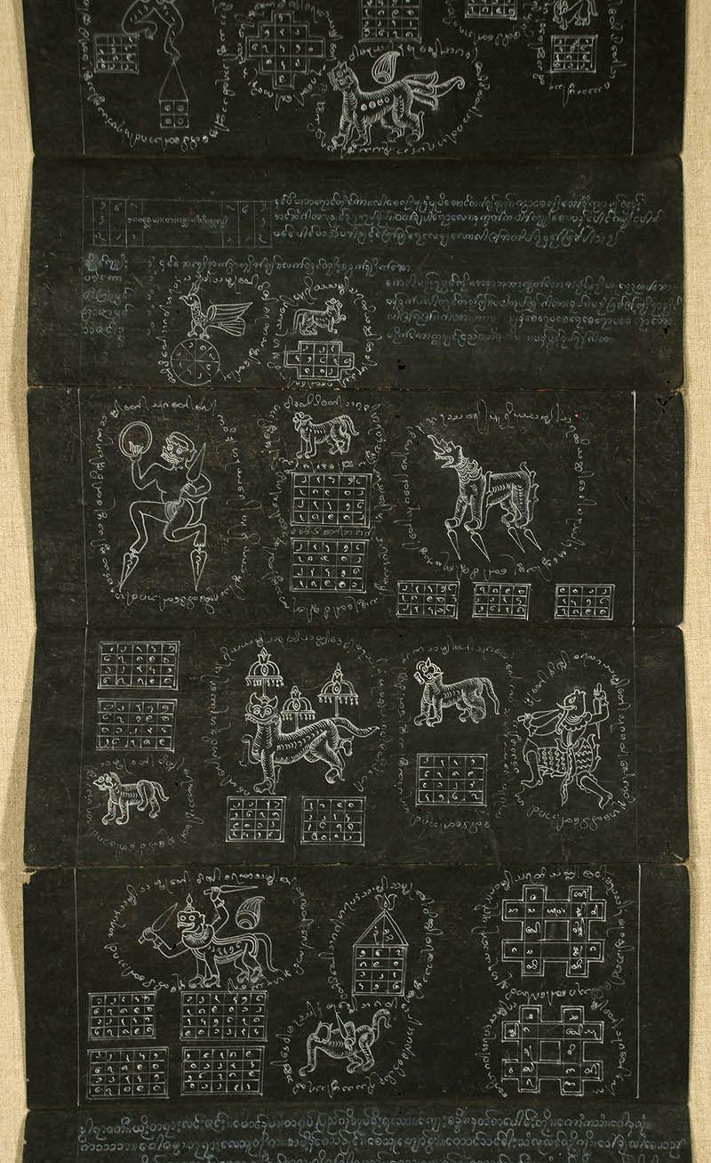 B-6545DD-A  Detail, Shan/Tai Yai Tattoo Book  Burma | Shan Art (Tai