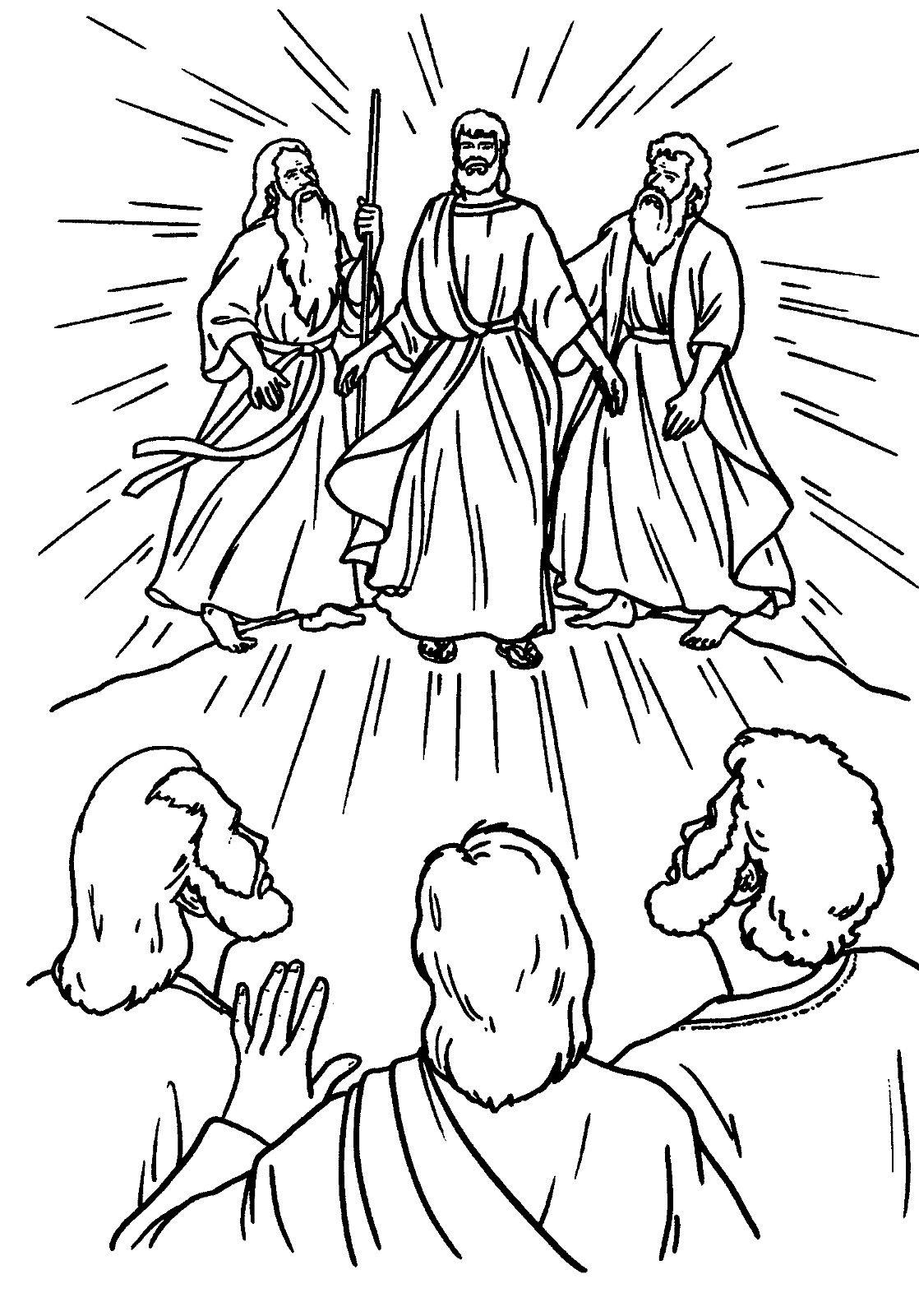 The Transfiguration Catholic Coloring Page