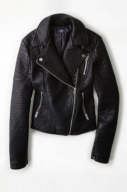 17 Faux Leather Jackets That Look Like The Real Deal Leather Jacket Faux Jacket Faux Leather Jackets