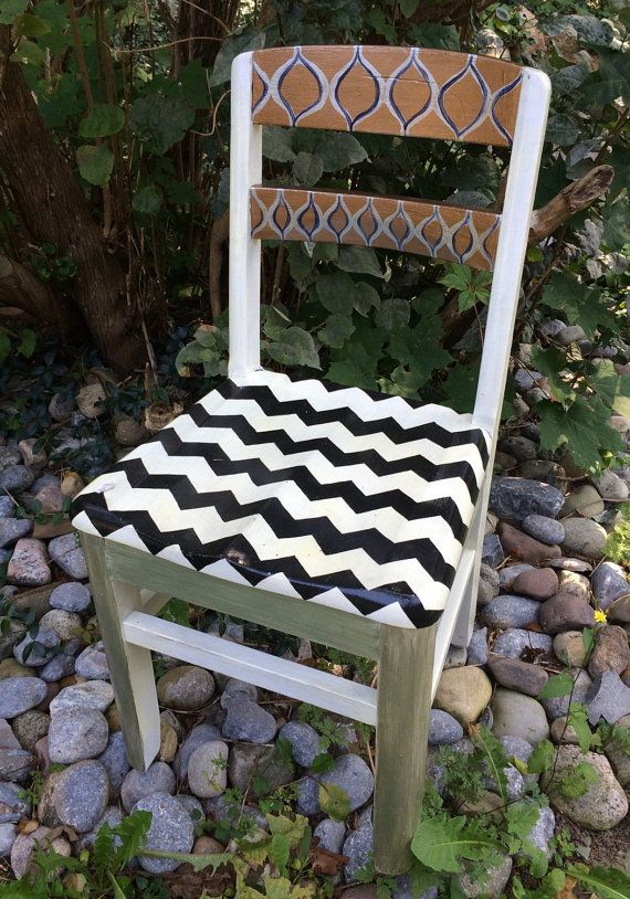 Handpainted Chair by SydneysWork on Etsy