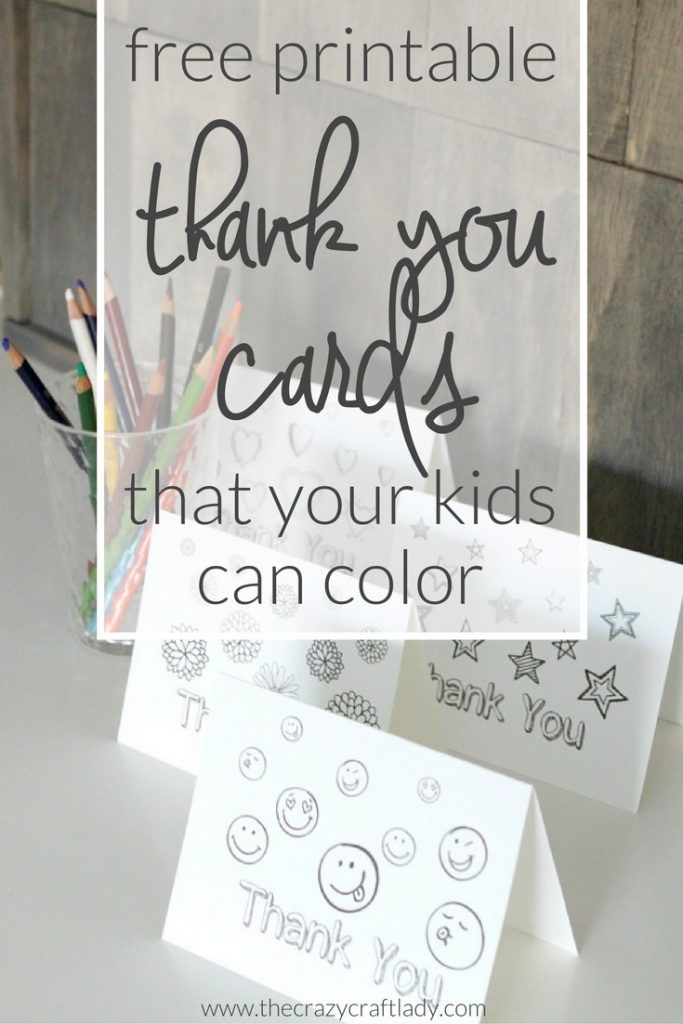 Printable Thank You Card Coloring Sheets