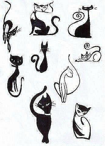 кошки татуировки фото
