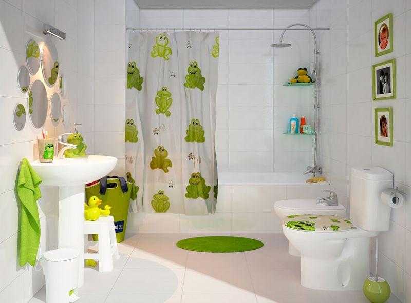C mo adaptar un cuarto de ba o para ni os ba os - Como decorar un cuarto de bano ...