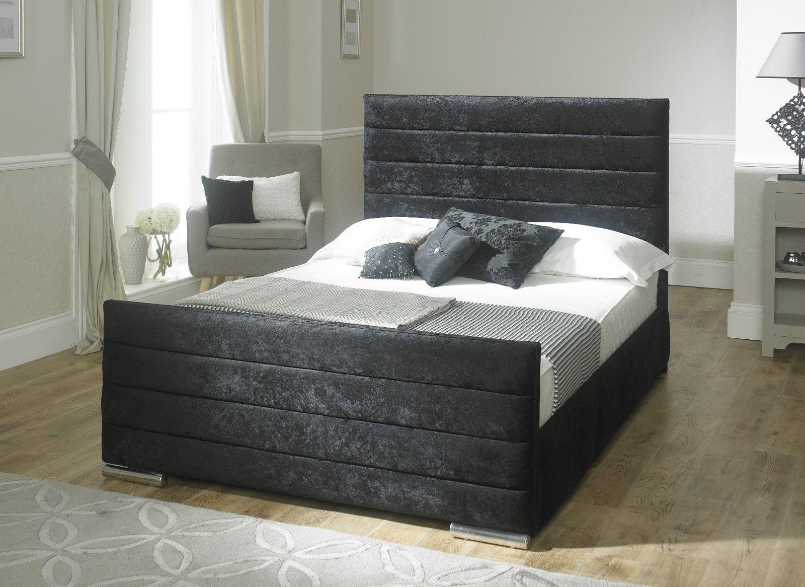 Best Details About Sarah Velvet Fabric Upholstered Storage Bed 400 x 300