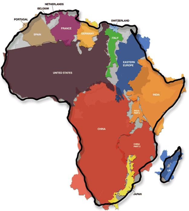 The united states x africa for the home pinterest perspective the united states x africa 19 maps that will help you put the united states in perspective freerunsca Image collections