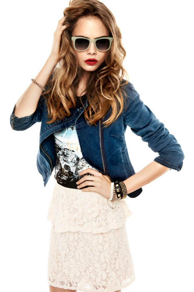 Model Cara Delevingne, photographer Mateusz Stankiewicz for Reserved, Spring 2013 lookbook