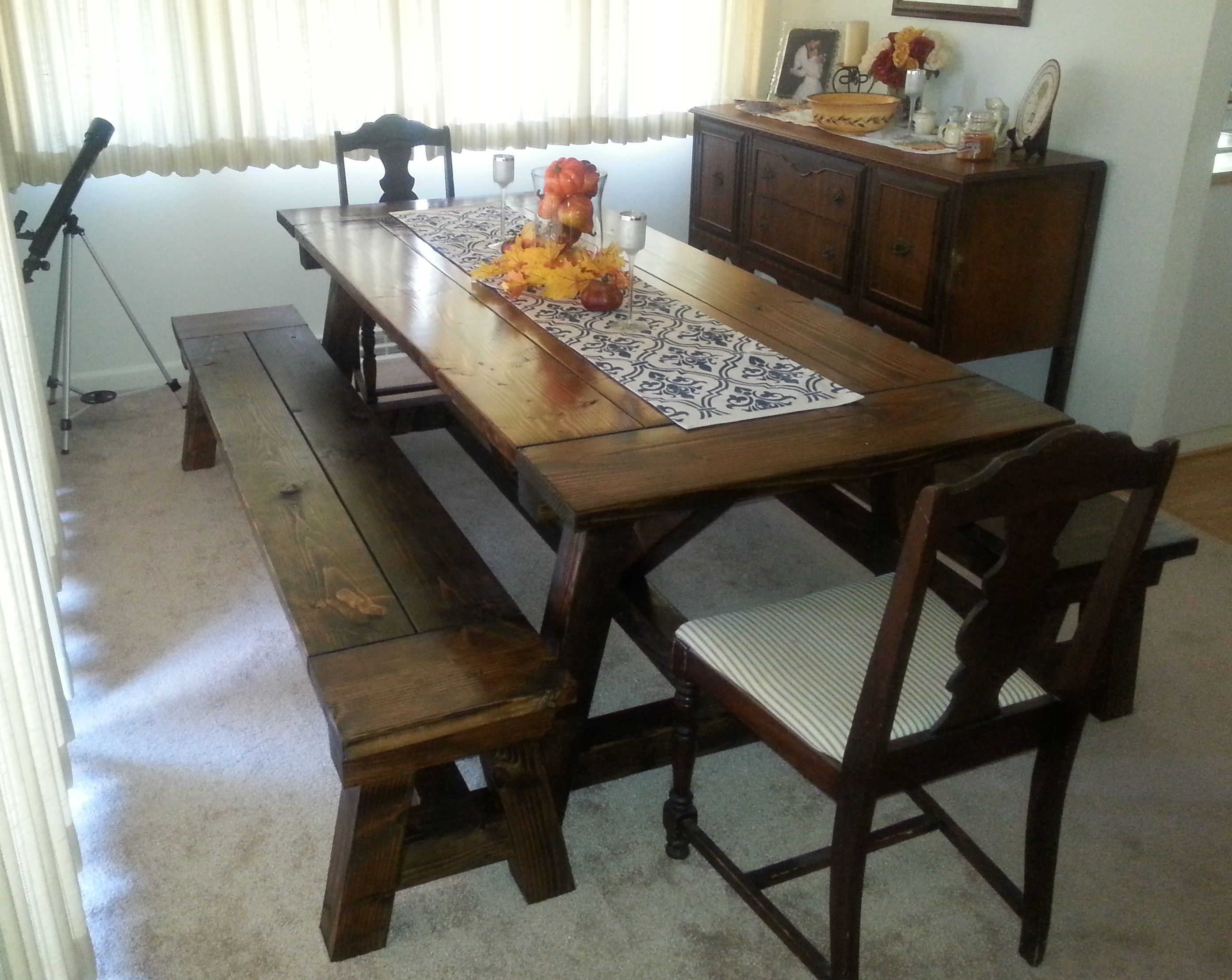 Rustic Truss Beam Dining Table Great For Large Families This Interesting Quality Dining Room Tables Design Decoration