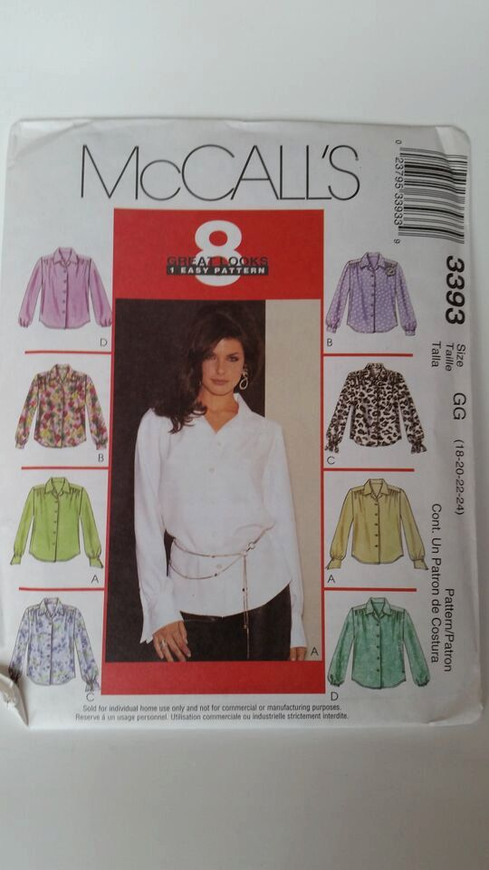 McCall\'s 8 Great Looks, 1 Easy Pattern Sewing Pattern 3393 Misses ...