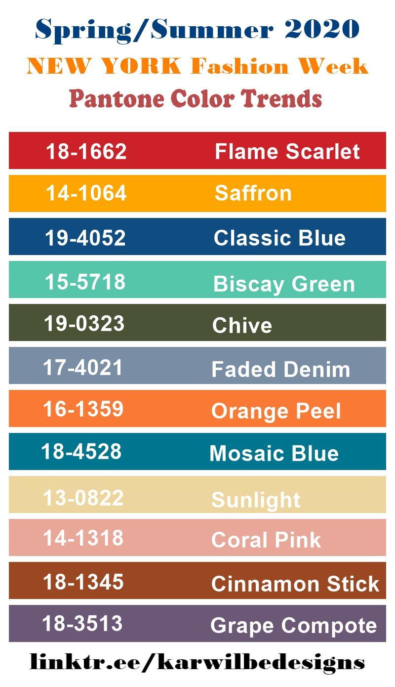 2020 Fashion Colour Trend Fabric