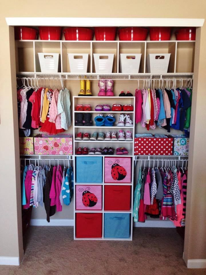 Perfect Closet For Two Small Children