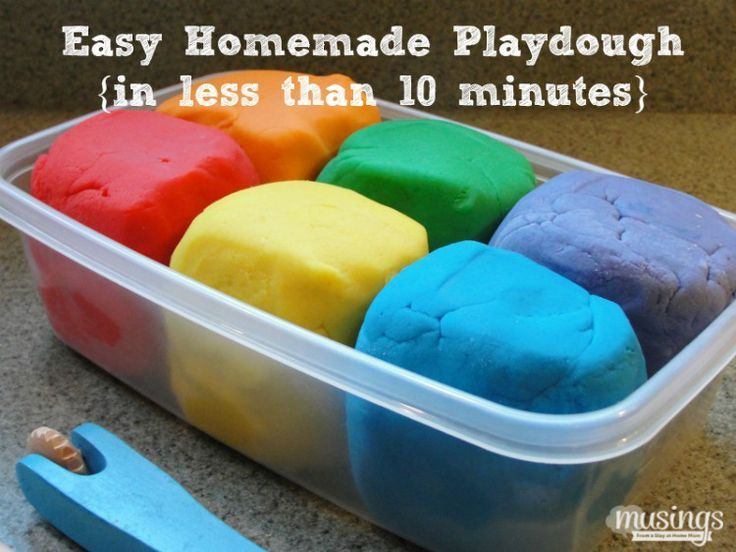 How to make the easiest homemade playdough recipe lasts