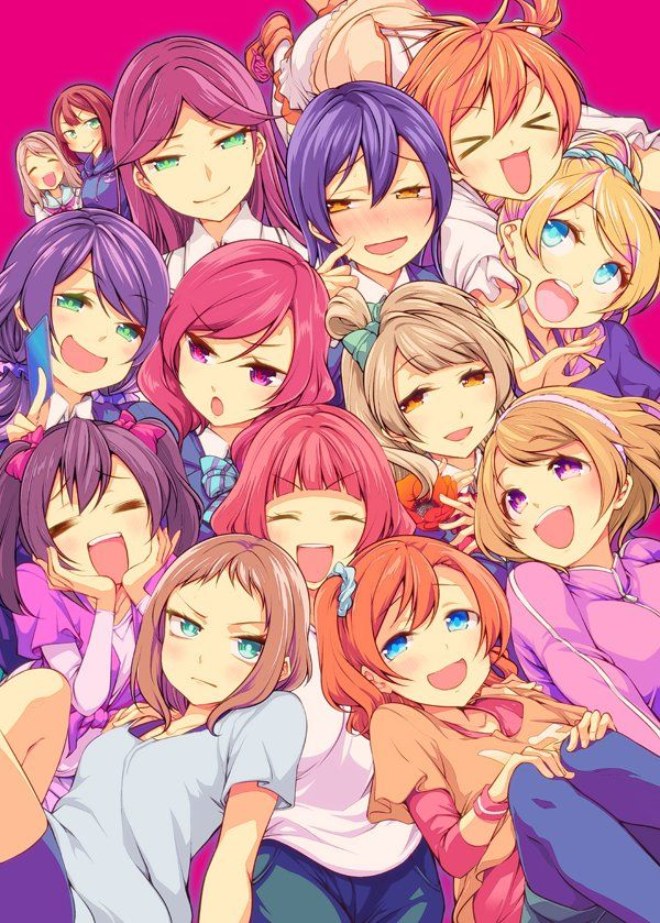 Love Live M S And A Rise Niko Yadzava Love Live Wallpapers
