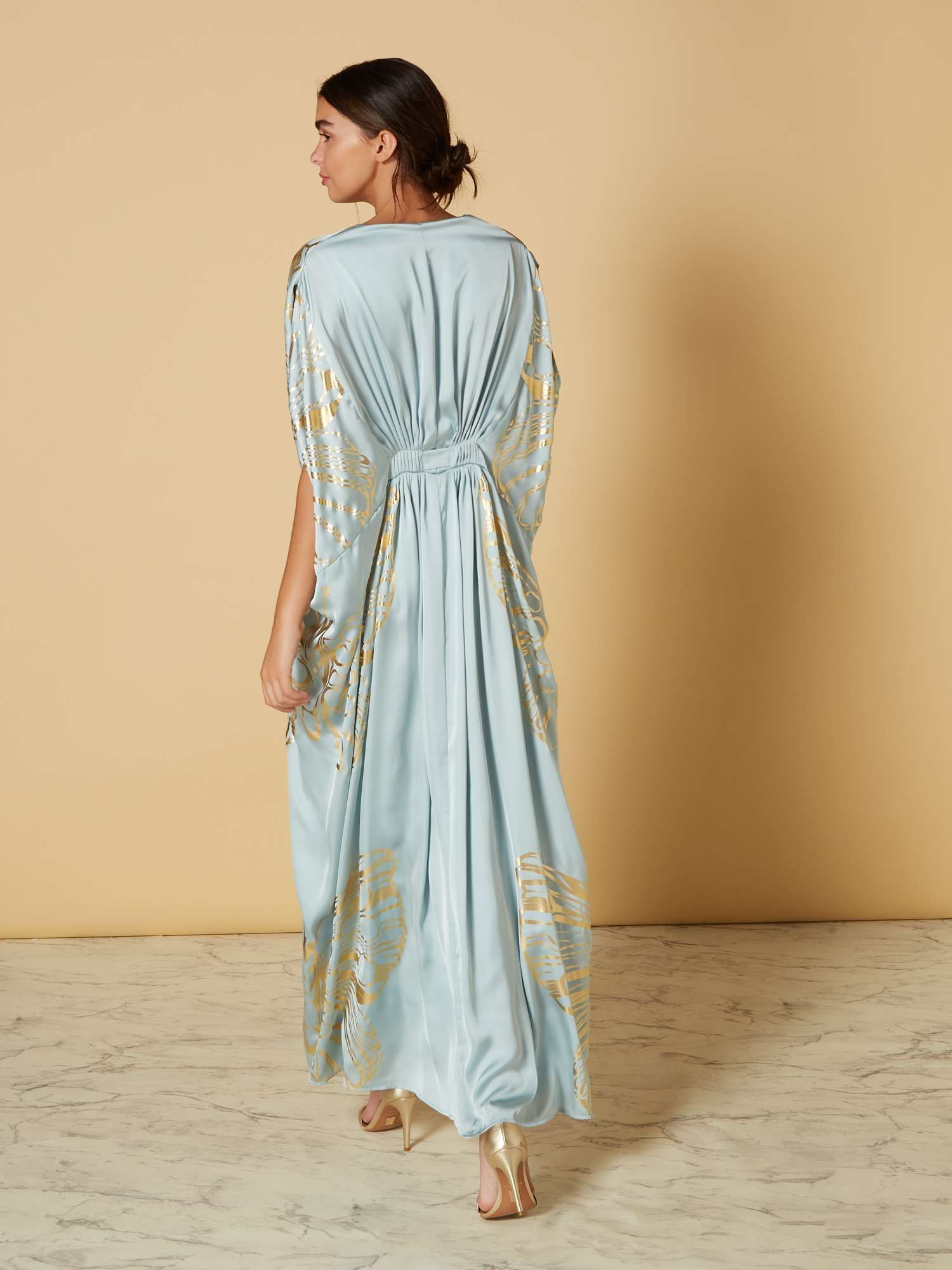 3c48a823595 ISSA Butterfly Placement Maxi Kaftan - House of Fraser | downton ...