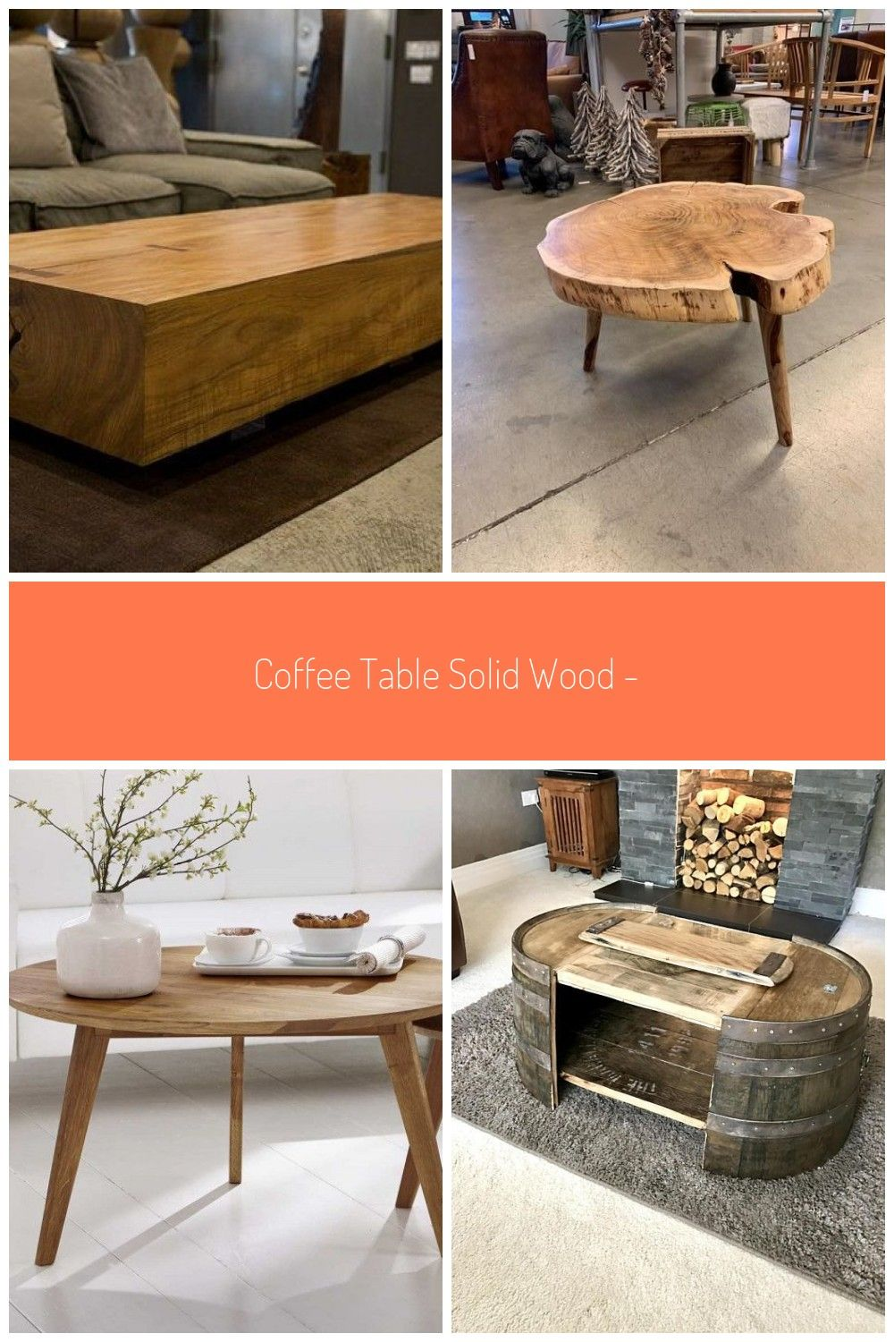 Coffee table Solid wood - models of wooden coffee tables  - Wohnzimmer Tisch - holz