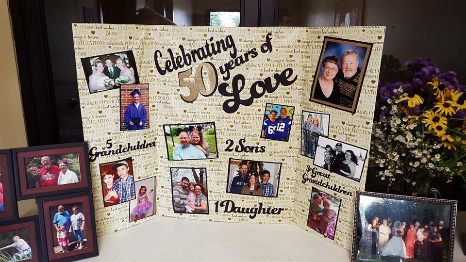 I Made This Picture Board For My Parents 50th Wedding