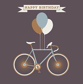 HIP Vintage Cycle Amp Birthday Balloons Birthday Clip Art Happy Birthday Happy Birthday Man