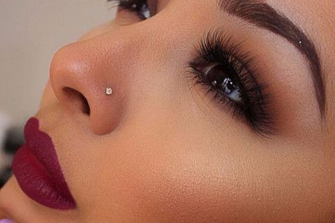 Classic Crystal Nose Piercing In Silver Or Gold Piercing Para