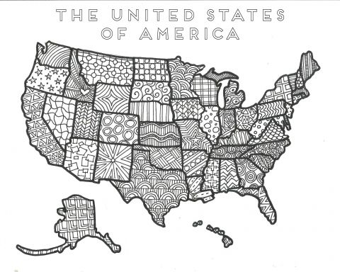 Coloring Pages United States Map Printable World Map Coloring