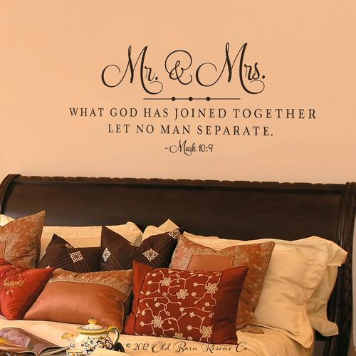Mr & Mrs | Wedding Scripture | Wall Decal | Wedding scripture ...