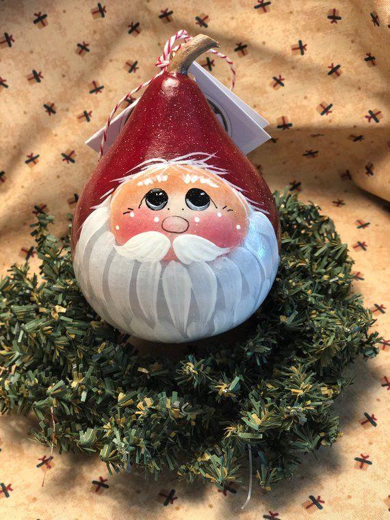 430 Santa Gourds Ideas In 2021 Gourds Painted Gourds Gourds Crafts