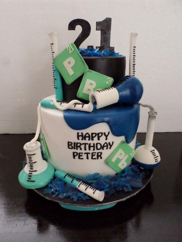 Chemistry birthday cake villa chateau birthday cakes pinterest chemistry birthday cake gamestrikefo Choice Image