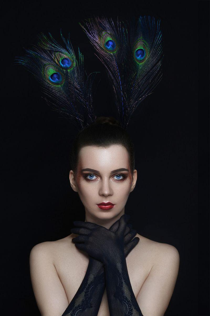 """Peacock"" — Photographer: Marc Lamey Model: Romy B."