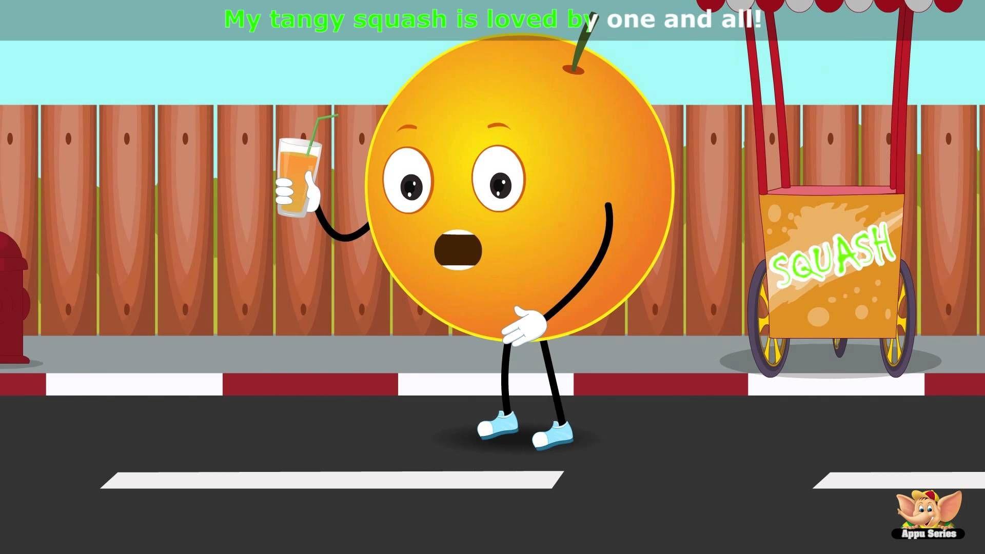 Orange Fruit Rhyme Fruit Song Rhymes For Kids Color Songs