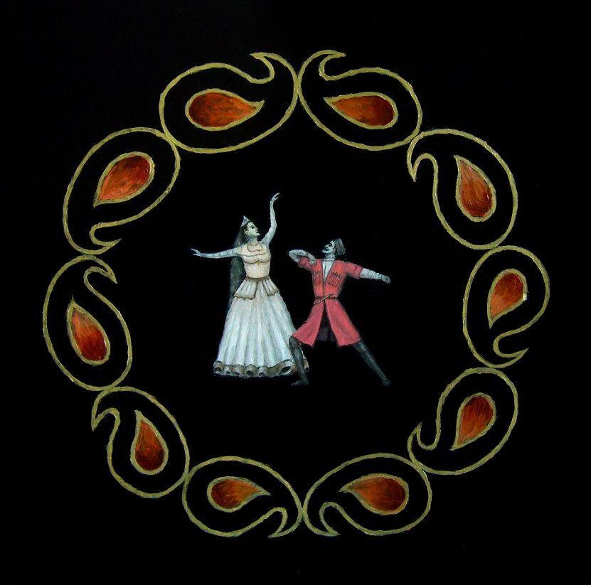 Azeri National Dance Oil On Wood Painting Shows Moment Of The Expressive National Dance The Dancers In Azeri National Dres With Images Art Traditional Paintings Painting