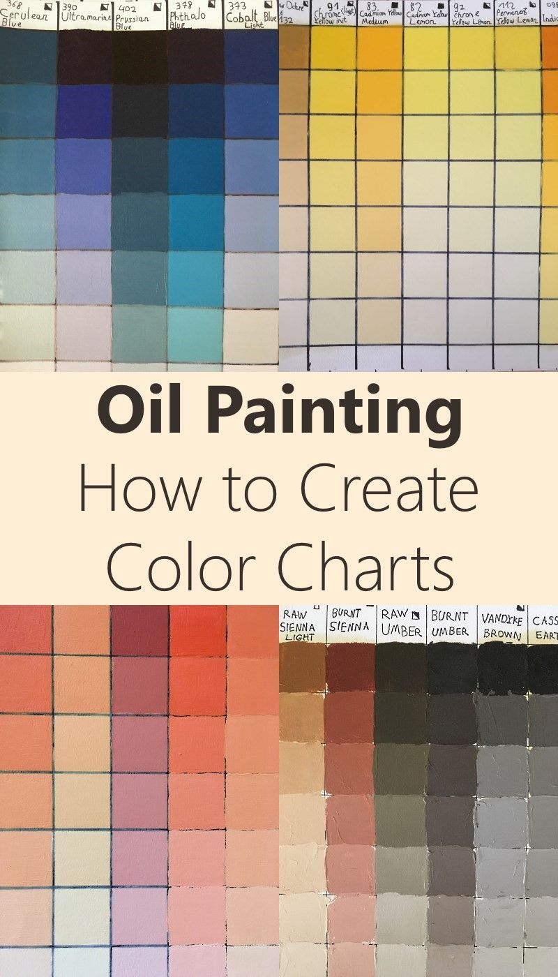 Oil Painting Mixing Basics Tutorials Colorful Oil Painting Paint Color Chart Oil Painting Tutorial