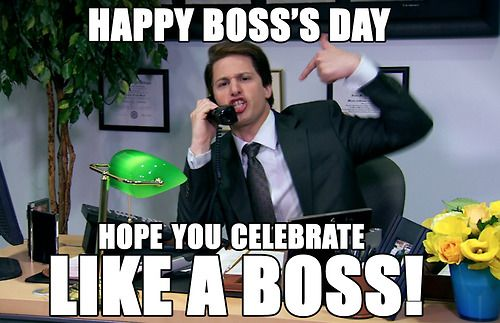 Happy Boss S Day Like A Boss Andy Samberg Saturday Night Live Snl National Bosses Day Happy Boss S Day Bosses Day