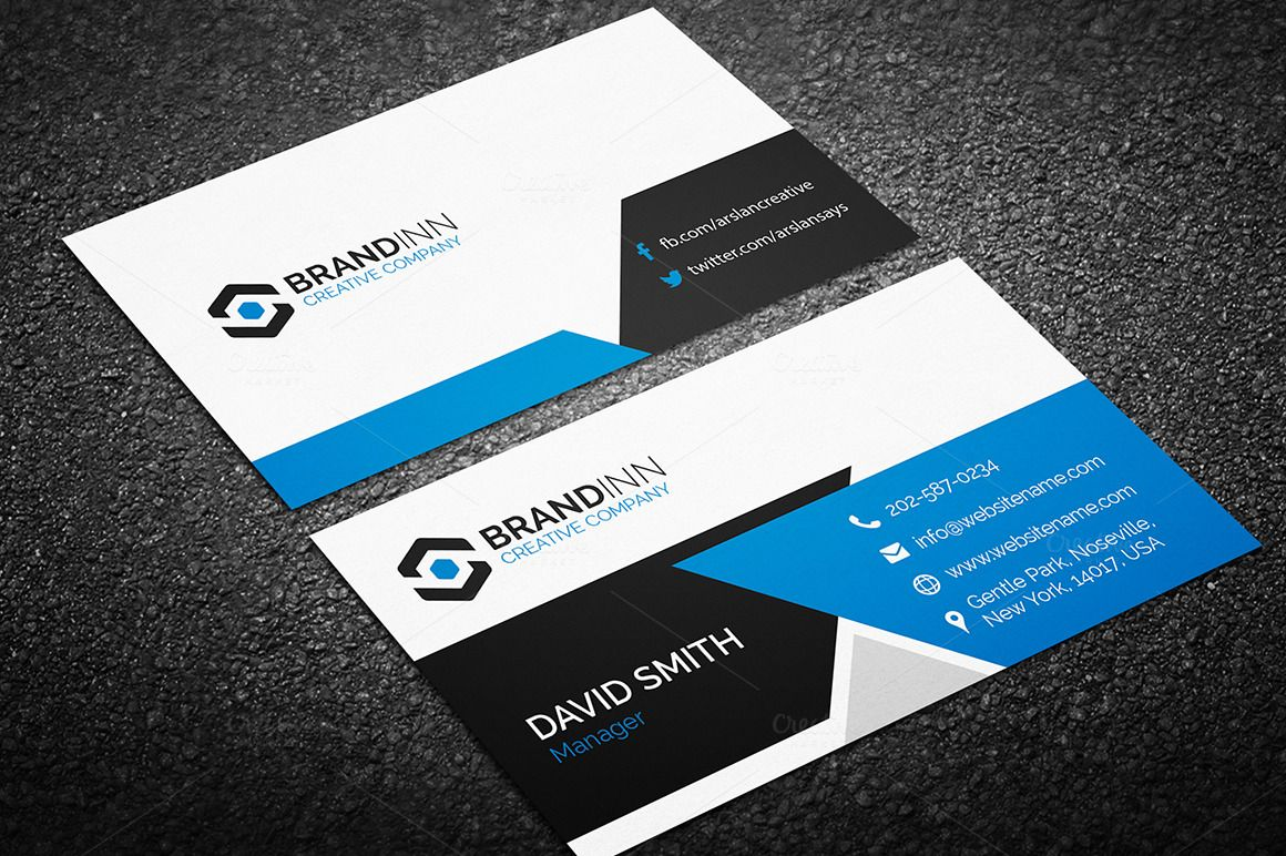 Modern Business Card Template By Made Arslan On Creativemarket