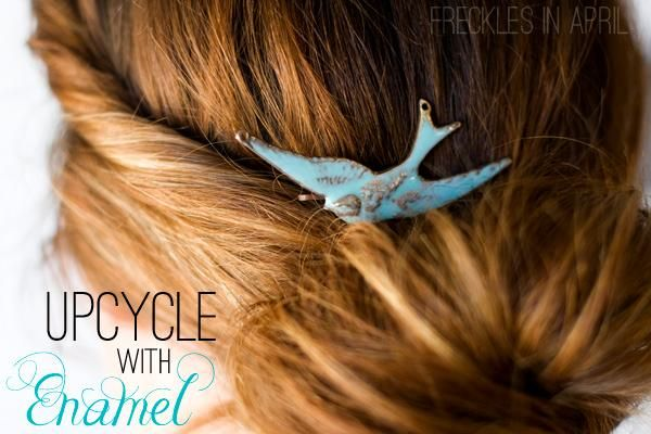 Upcycling Old Jewelry with Enamel Martha Stewart by Freckles in April