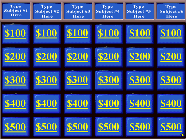 Review And Teach With These Free Jeopardy Powerpoint Templates School Technology Teaching Review Games