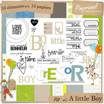 FREEBIE : kit-a-little-boy - Free-digiscrap.com : le digiscrap gratuit ! The…