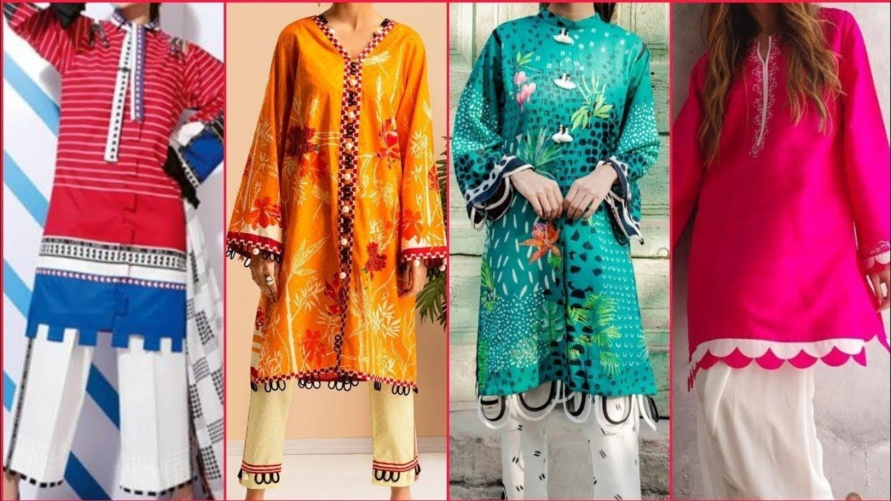 Latest Sleeves And Daman Design For Kurtis Daman And Sleeves Design Slee Sleeves Designs For Dresses Designs For Dresses Stylish Dress Designs