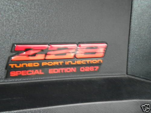 Image result for 1982-1987 camaro z28 color code,rpo codes