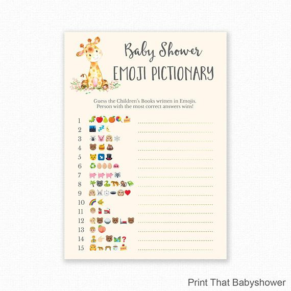 baby shower emoji game answers